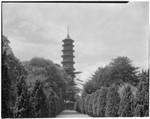 Royal Botanic Gardens, Kew, view of the Great Pagoda, Kew, England, 1929, Kew Gardens