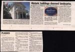 Historic buildings deemed landmarks