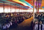Nordindien. Fra 50 års jubilæum i NELC, november 2000. 4-5000 mennesker deltog kontinuerligt i jubilæets 4 dages program, North India. From the 50th Anniversary of NELC, November 2000. 4-5000 people participated conti
