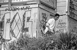 Graffiti on residential homes