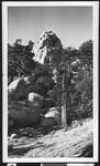 Unidentified granite rock formation on the ridge
