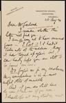 Arthur Rackham, letter, 1920-08-20, to Hamlin Garland