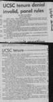 UCSC tenure denial invalid, panel rules