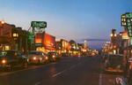 North Hollywood's Lankershim Boulevard at night