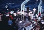 MV68-I Gulf [of California] Trip, [Scientists on deck]