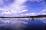Lake Titicaca and sky