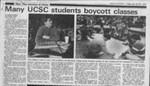Many UCSC students boycott classes