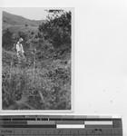 Bro. Lawrence standing on leprosarium property at Jiangmen, China, 1936