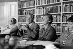 Bestyrelsesmøde 3.10.1979. Samtale med Karen Margrethe og August Toft, Board Meeting 03/10/1979. Conversation with Karen Margrethe and August Toft