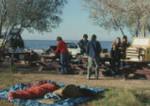 Students camping