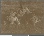 Lion trophies, Mozambique, 1918