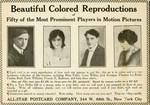 Motion Picture postcard advertisement