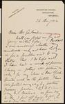 Arthur Rackham, letter, 1922-08-26, to Hamlin Garland
