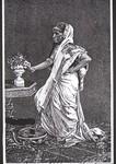 Brahaminen Mädchen im Schmuck, Brahmin girl with jewellery