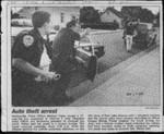 Auto theft arrest