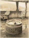 Fountain on veranda