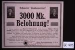 Schwerer Landesverrat! 3000 Mk. Belohnung! Der hier abgebildete, wegen Schweren Landesverrats verflogte Steuermann Johann (Jonny) Brandt ... Hannover, den 17. Mai 1918. ... Stellv. Generalkommando X.U.R., Abtlg. Abwehr B