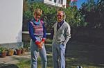 Merete Maksten (Høyland) sent by DSM for teaching at the Norwegian School in Kathmandu, Nepal, Merete Maksten (Høyland), udsendt af DSM som lærer ved Den Norske Skole i Kathmandu, Nepal, 1984-86. Ses her sammen med generalsekretær Jørgen Nørgaard Pedersen, december 1984. (Senere gift med den norske lærer, Ingolf Ragnar Høyland, og begge var ansat ved skolen, 1992-96)