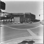 Steel frame construction at Santa Rosa Plaza, Santa Rosa, California, 1981