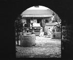 Olvera Street through an archway