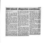 200-block disputes continue
