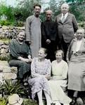 Manchuria 1930s. Siuyen. Dr. Nielsen and his wife, Elise Bahnson, Anna Bøg Madsen udsendt 1919, Manchuriet 1930'erne. Siuyen. Dr. Nielsen og frue, Elise Bahnson, Anna Bøg Madsen samt Helga Bech-Andersen udsent 1921-52. Rektor Lu yderst til venstre. Muligvis også Teng. Læge Niels Nielsen, født 1875. Udsendt 1907-1940, Xiuyan. Ane Kirstine Nielsen, født Jørgensen i 1873. Udsendt 1907-1940, Xiuyan. Arkitekt Elise Marie Bahnson, født 1886. Udsendt 1925-1951, Shenyang 1927, Xiuyan 1929. Danmission Photo Archive