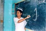 Danish Mission Hospital, Tirukoilur, Tamil Nadu, South India, October 1998. Teaching at the reo, Tirukoilur Hospital, Tamil Nadu, Sydindien, oktober1998. Lærer underviser på den genåbnede sygeplejeskole