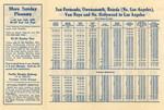 San Fernando Vally Line Time Table, 1931