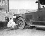 Women gas attendants, view 1