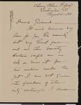 Isabelle S. Farrington, letter, 1933-08-15, to Hamlin Garland