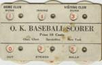 O. K. Baseball Scorer