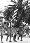 Chinese American flag bearers