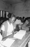Adult education in Madagascar 1985. Church staff learning to read and write, Voksenundervisning i Madagaskar 1985. Kirkemedarbejdere lærer at læse og skrive