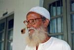 Danish Bangladesh Leprosy Mission/DBLM, November 1994. A grateful previous leper patient (72 ye, Spedalskhedsarbejde/DBLM, Bangladesh, november 1994. En taknemlig tidligere patient (lærer, 72 år)