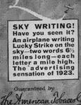 SKY WRITING!