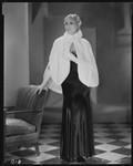 Peggy Hamilton modeling an ermine cape, 1931