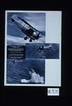 Torpedeamento aereo pela marinha real. Esta fotografia mostra um Swordfish da Aviacao Naval picando velozmente na direccao do alvo