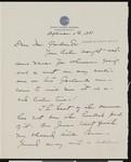 Isabelle S. Farrington, letter, 1931-09-11, to Hamlin Garland