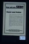 Das will die SED! Kunst und Kultur. Alle Kultur- und Bildungseinrichtungen sind dem schaffenden Volke zu erschliessen. ... Aus dem Programm der Sozialistischen Einheitspartei Deutschlands zu den Gemeindewahlen 1946
