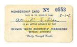 Denson Young Buddhists' Association membership card