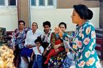 Day Care Center, Port Said. Lærer Teresa inderviser mødre med børn, Day Care Center, Port Said. The teacher Teresa teaches mothers with children
