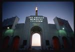 LA Memorial Coliseum at night