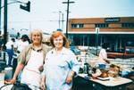 Volunteers at garage sale