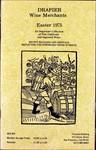 Drapier Wine Merchants: Easter 1975 Wine List