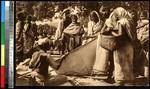 Crowded marketplace, Bangladesh, ca.1920-1940