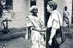 Fra Bushangaro, Karagwe stift, Tanzania. I arbejdet med mennesker er den personlige relation vigtig for Gudrun Vest, From Bushangaro, Karagwe Diocese, Tanzania. In her work with people the personal relation is im
