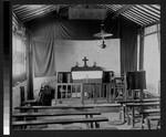 Interior of small church near Wuhan, Hubei, China, 1897