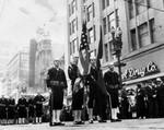 Naval color guards, Armistice day parade