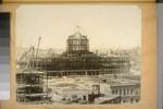 Progressive construction, City Hall. May 5, 1914. (Polk St. elevation--Steel frame of Auditorium lower left hand corner.) 1840