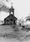 Bangladesh Nordlige Evg. Lutherske Kirke/BNELC, 1971. Den lille kirke i Amnura med plads til 30-40 mennesker. (Anvendt i: Santalposten nr 2/1971), Bangladesh Northern Evg. Lutheran Church/BNELC, 1971. The small church at Amnura, with seats fo